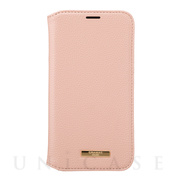 "【iPhone12/12 Pro ケース】""Shrink"" PU Leather Book Case (Pink)"
