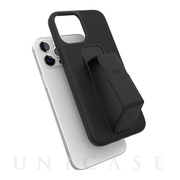 【iPhone12 Pro Max ケース】clckr CLEAR GRIPCASE Saffiano (Black)