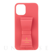 【iPhone12 mini ケース】SLIM WRAP CASE STAND & RING RIBBON (Coral Pink)