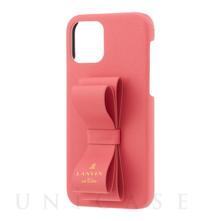 【iPhone12/12 Pro ケース】SLIM WRAP CASE STAND & RING RIBBON (Coral Pink)