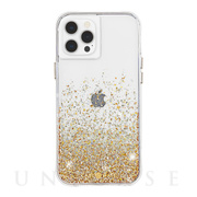 【iPhone12/12 Pro ケース】抗菌・耐衝撃ケース Twinkle Ombre (Gold)