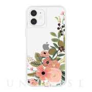 【iPhone12 mini ケース】RIFLE PAPER CO. 抗菌・耐衝撃ケース (Clear Garden Party Rose)
