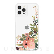 【iPhone12 Pro Max ケース】RIFLE PAPER CO. 抗菌・耐衝撃ケース (Clear Garden Party Rose)