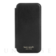 【iPhone12 Pro Max ケース】Folio Case (Black Crumbs/Black PC/Gold Sticker Logo)