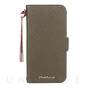"【iPhone12/12 Pro ケース】""サフィアーノ調"" PU Leather Book Type Case (グリーン)"