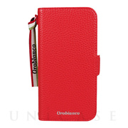 "【iPhone12/12 Pro ケース】""シュリンク"" PU Leather Book Type Case (レッド)"