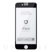 【iPhoneSE(第2世代)/8/7/6s/6 フィルム】iFace Round Edge Tempered Glass Screen Protector ラウンドエッジ強化ガラス 液晶保護シート (ブラック)