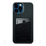 【iPhone12 Pro Max ケース】HOVERSKIN (Black Nappa Leather)