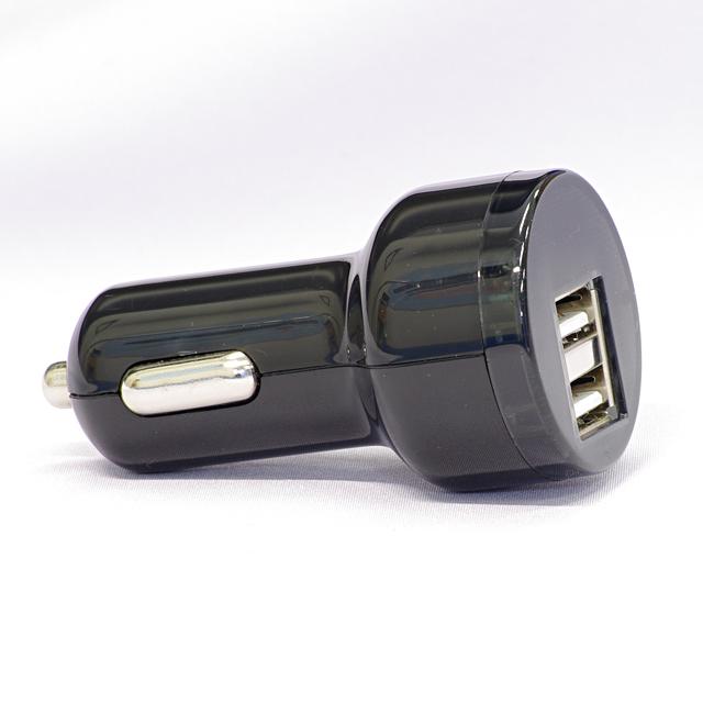 2PORT搭載 USBシガーチャージャー PCC-2BK