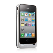 【iPhone4専用】PowerGuard Battery Case with Card Stand White