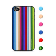 【iPhone4S/4 スキンシール】CUSHI STRIPES MULTI