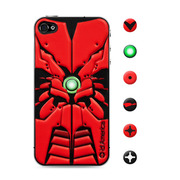 【iPhone4S/4 スキンシール】CUSHI ROBOTICS RED