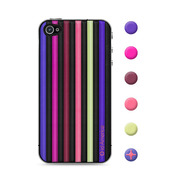 【iPhone4S/4 スキンシール】CUSHI STRIPES PURPLE