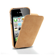 【iPhone4S/4 ケース】SGP Leather Case Vintage Edition for iPhone4 Brown Flat