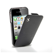 【iPhone4S/4 ケース】SGP Leather Case illuzion for iPhone4 Legend Black