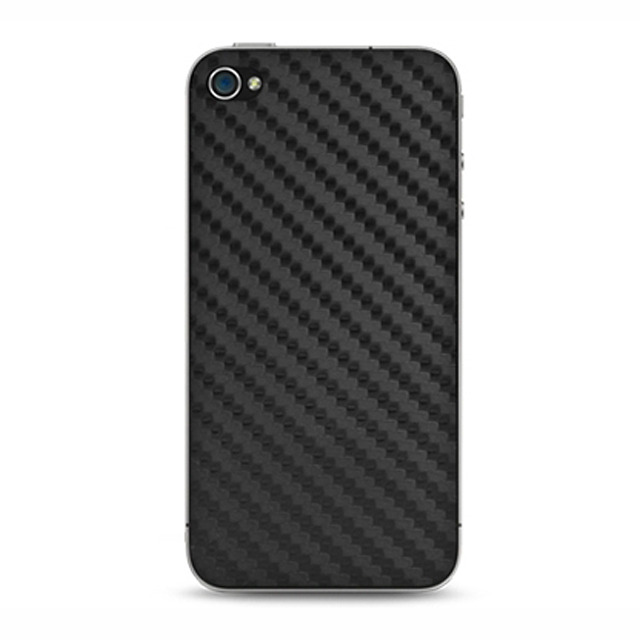 【iPhone4S/4 スキンシール】Faux Carbon fiber Protector