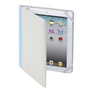 【iPad(第3世代/第4世代) iPad2 ケース】MacGizmo iCross White/Blue