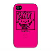 【iPhone4 ケース】Keith Haring Collection Bezel Case for iPhone4 Face Pink