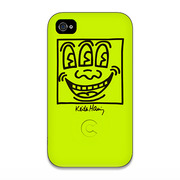 【iPhone4 ケース】Keith Haring Collection Bezel Case for iPhone4 Face Yellow