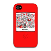 【iPhone4 ケース】Keith Haring Collection Bezel Case for iPhone4 Bee Red
