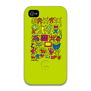 【iPhone4 ケース】Keith Haring Collection Bezel Case for iPhone4 All Star Green