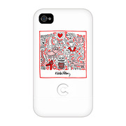 【iPhone4 ケース】Keith Haring Collection Bezel Case for iPhone4 Bee White