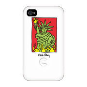 【iPhone4 ケース】Keith Haring Collection Bezel Case for iPhone4 NY White