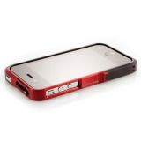 【iPhone4S/4】Vapor Pro Spectra Red/Black w/Black