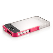 【iPhone4S/4】Vapor Pro Spectra Pink/Silver w/Clear