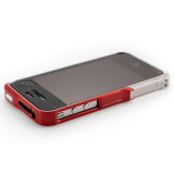 【iPhone4S/4】Vapor Pro Spectra Red/Silver w/Clear