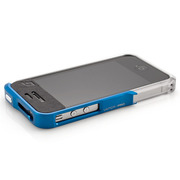 【iPhone4S/4】Vapor Pro Spectra Blue/Silver w/Clear