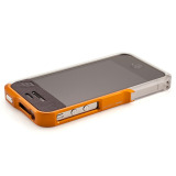 【iPhone4S/4】Vapor Pro Spectra Orange/Silver w/Clear