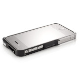 【iPhone4S/4】Vapor Pro Spectra Black/Silver w/Clear