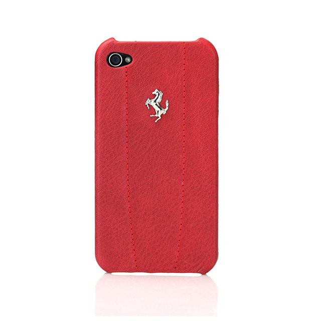 【iPhone4S/4 ケース】Ferrari GT Leather Modena Case for iPhone 4 レッド