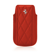 【iPhone4S/4/3G/3GS ケース】Ferrari GT Leather Modena Sleeve Case for iPhone レッド