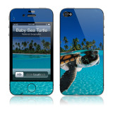 【iPhone4S/4 スキンシール】Baby Green Sea Turtle National Geographic × GELASKINS