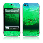【iPhone4S/4 保護フィルム】A Wild Green Sea Turtle National Geographic × GELASKINS