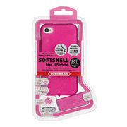 【iPhone4S/4 ケース】SOFTSHELL for iPhone4S/4 ピンク