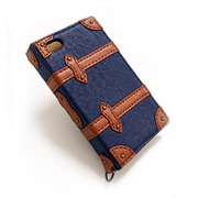 【iPhone4 ケース】Trolley Case for iPhone4/4S (Navy)
