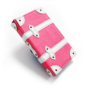 【iPhone4 ケース】Trolley Case for iPhone4/4S (Pink)