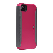 Case-Mate iPhone 4S / 4 Pop! ハイブリッド シームレス ケース, Fuchsia(Pink) / Cool Gray