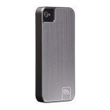 Case-Mate iPhone 4S / 4 Barely There Case Brushed Aluminum, Silver