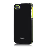 Armor Metal Hybrid Case for iPhone 4/4S Black?Neon Yellow