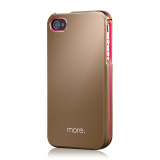 Armor Metal Hybrid Case for iPhone 4/4S Rose Gold Neon Pink