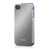 Armor Metal Hybrid Case for iPhone 4/4S Aluminium?Blue