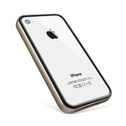 【iPhone4S/4 ケース】Neo Hybrid2S Vivid Series [Champagne Gold]