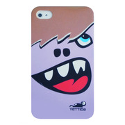 YETTIDE iPhone 4S / 4 Funny Face Case - Double tooth, Purple