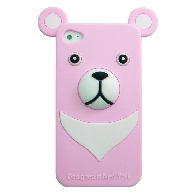 iburg iPhone 4S / 4 Full Protection Silicon Bear, Pink