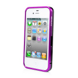 CAPDASE iPhone 4S / 4 Alumor Bumper Duo Frame, Purple / Black