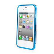 CAPDASE iPhone 4S / 4 Alumor Bumper Duo Frame, Blue / Silver